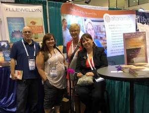 Myself and other LLewellyn authors at ALA Orlando Event.